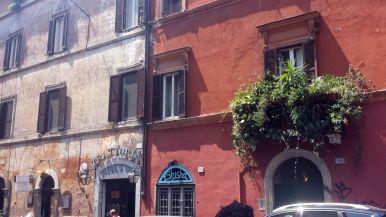 Häuserfronten in Trastevere