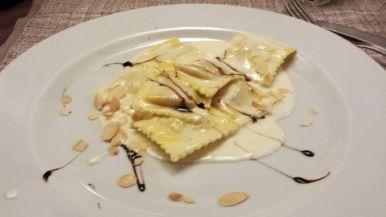Kürbisravioli, Piccola Toscana Restaurant, Roma