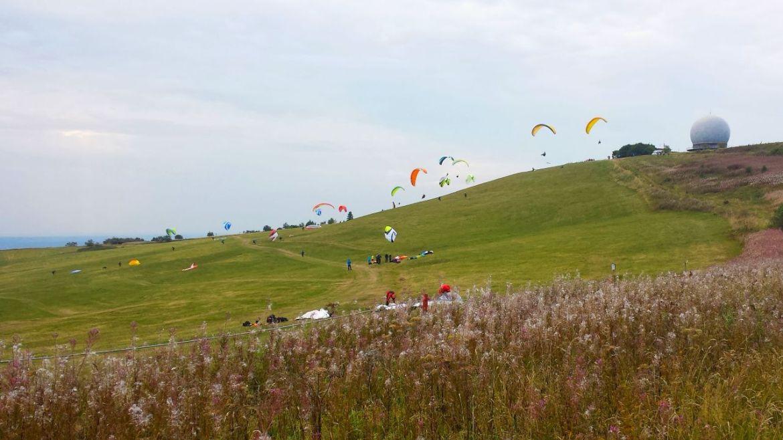 Paraglider an der Wasserkuppe