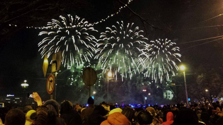 Feuerwerk in Riga