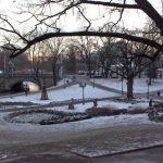 Stadtkanal im Kronvaldspark Riga