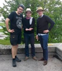 Maik beschenkt Uwe & Thomas