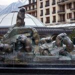 Murmeltierstatue in Zermatt