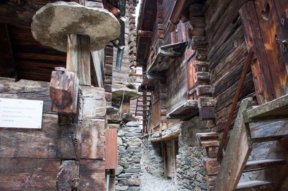 Schweineställe aus dem 16. Jahrhundert in Zermatt