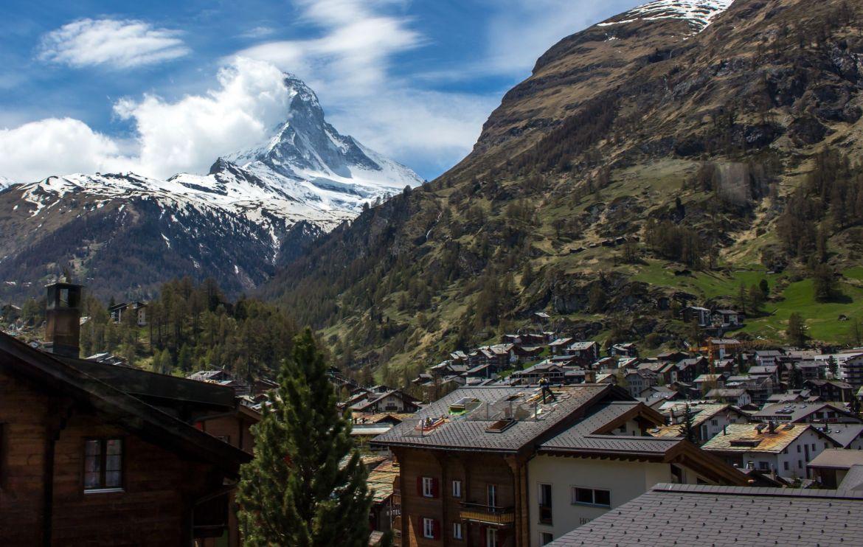 Zermatt mit Matterhorn im Hintergrund