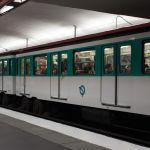 Metro in Paris auf Gummireifen