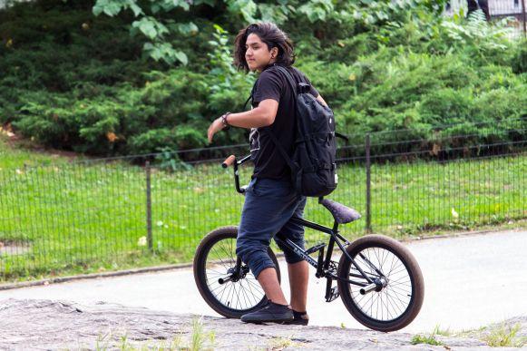 Fahrradfahrer im Central Park