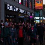 Fußgänger am Time Square, Manhattan