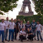 Siegerehrung am Eiffelturm