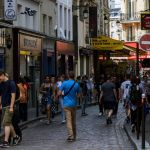 Touristen in Paris