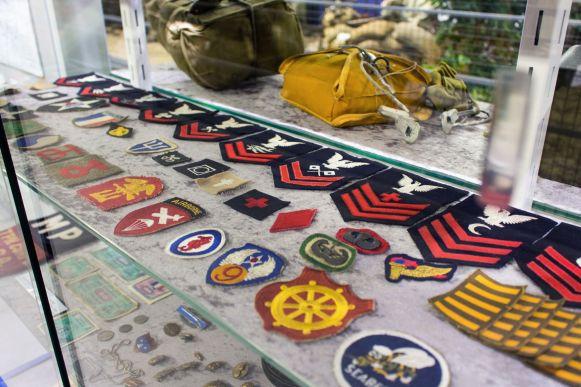 Rangabzeichen im Omaha Beach Museum