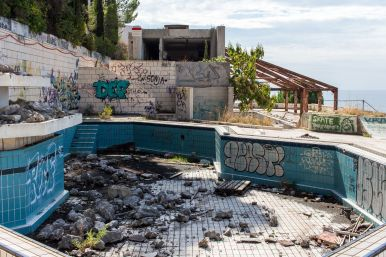 Poolbereich Hotel Belvedere Dubrovnik