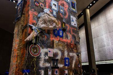 Letzter Stahlbalken World Trade Center 911 Museum New York City