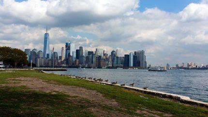 Lower Manhattan seen from Ellis Island
