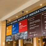 Sign in the National Museum of Immigration