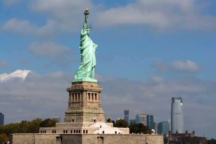 Statue of Liberty von der Fähre aus