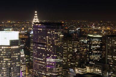 MetLife und Chrysler Building vom Top of the Rock