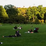 Relaxing in Central Park New York City