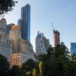 Skyline behind Central Park New York City