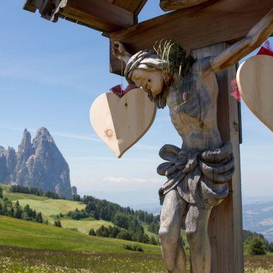Jesusfigur auf der Seiser Alm