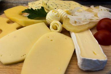 Käseplatte in der Saltner Hütte