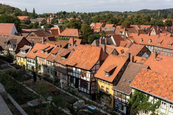 Ausblick über Quedlinburg