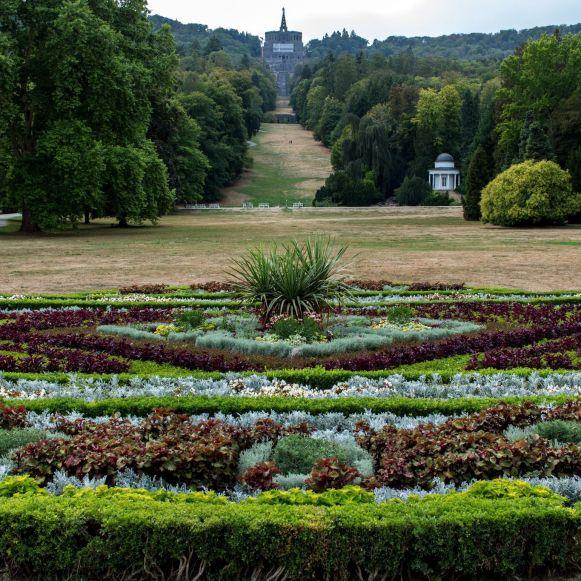Blick auf Herkules vom Schloss aus, Bergpark Wilhelmshöhe, Kassel