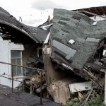 Eingestürztes Dach des Hotel Fürstenhof, Eisenach