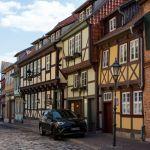Gasse in Quedlinburg im Harz