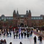 Eisbahn am Rijksmuseum Amsterdam
