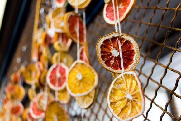 Orangenscheiben in der Markthalle Budapest