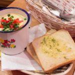Polnische Käsesuppe, Knoblauchbrot