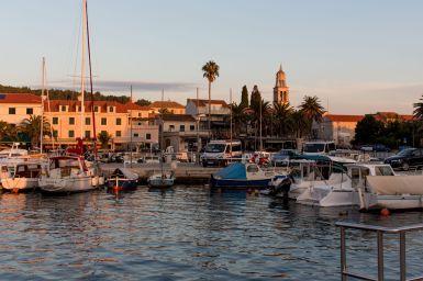 Boote in Vela Luka, Korcula, Kroatien