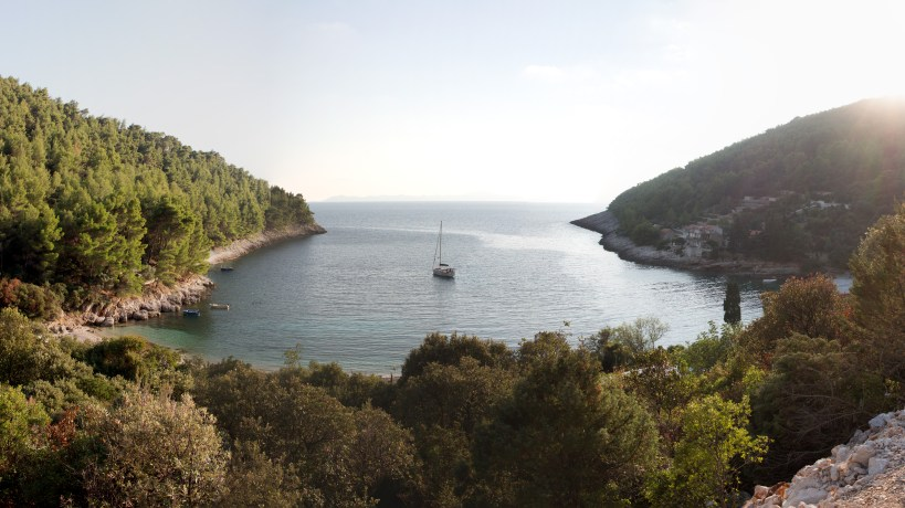Pupnatska Luka Bucht auf Korcula, Kroatien