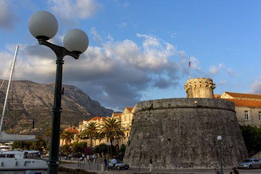 Stadtmauer von Korcula, Kroatien