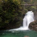 Sum-Wasserfall in der Vintgar Klam, Slowenien