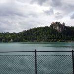 Burg über dem See Bled, Slowenien
