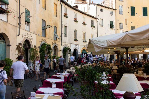 Restaurants in Lucca, Italien