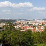 Prag und die Moldau von oben