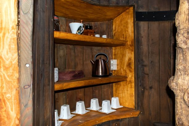 Kaffeeecke im Baumaquarium
