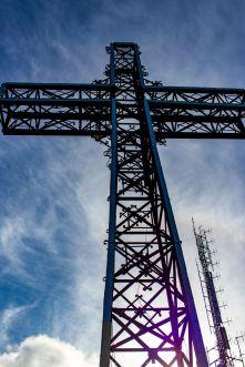 Gipfelkreuz von Monte Argentario, Italien
