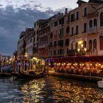 Hotel Marconi in Venedig am Abend
